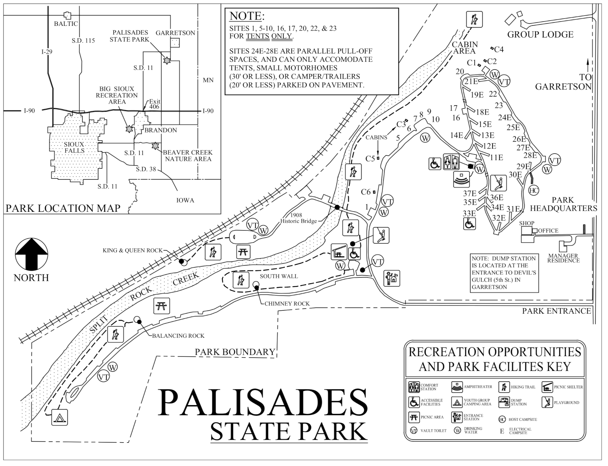 mississippi palisades state park map Palisades State Park Campsite Photos Reservations Camping Info mississippi palisades state park map