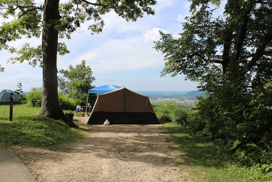 Wyalusing State Park's Treasure Cave - Campsite 124