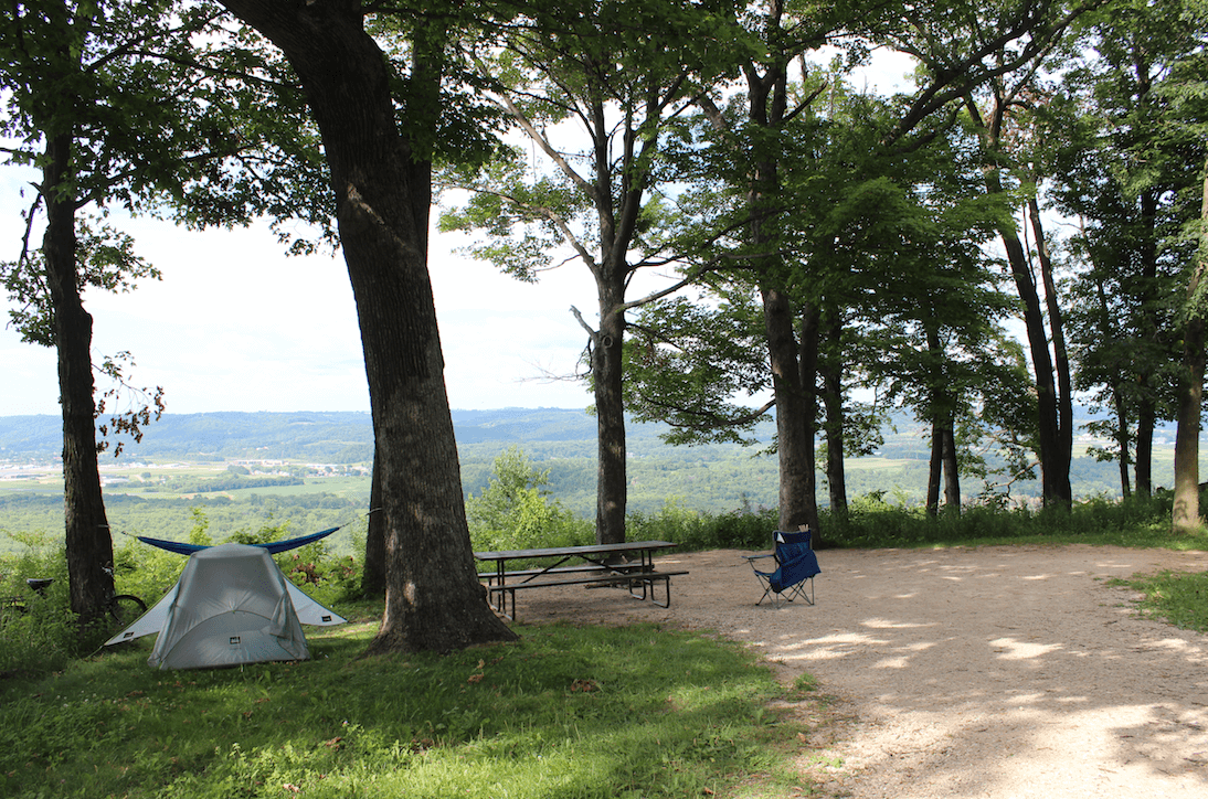 Wyalusing State Park's Treasure Cave - Campsite 144