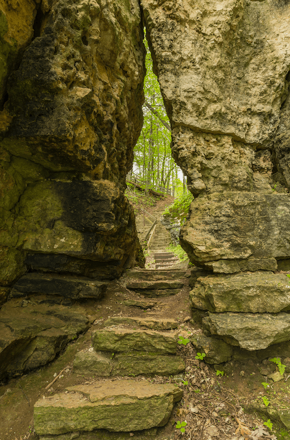 Wyalusing State Park's Treasure Cave - The Keyhole