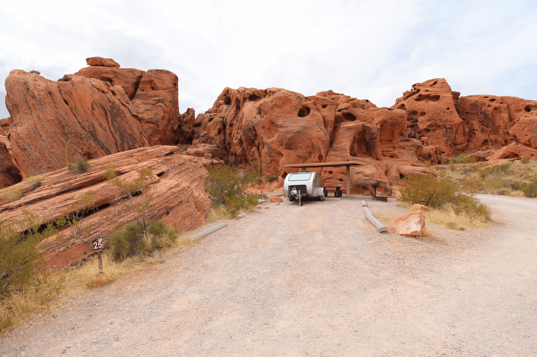 New Valley of Fire State Park Campsite Photos - Arch Rock Site 25