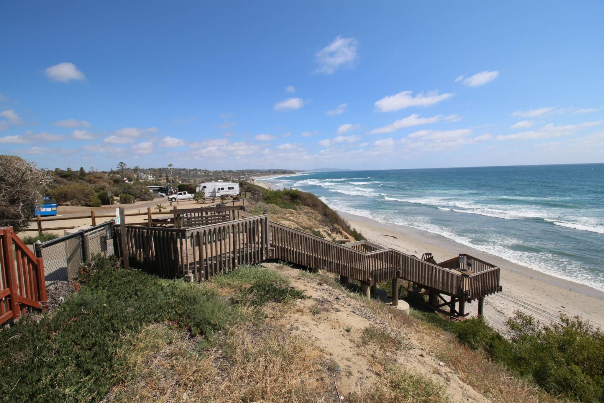 California Opens Campgrounds in 28 State Parks - San Elijo State Beach